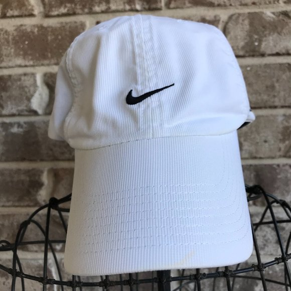 Nikefit White Swoosh Cap Hybrid Sports Retro Hat